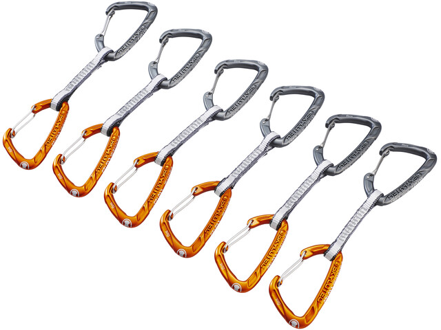 Skylotec Flint Express Dyneema Wire Quickdraw Set 11cm 6 Pieces light grey/orange